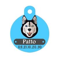 Médaille pour chien Husky personnalisée avec nom, numéro de téléphone
