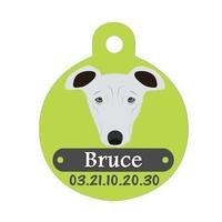 Médaille pour chien Lévrier personnalisée avec nom, numéro de téléphone