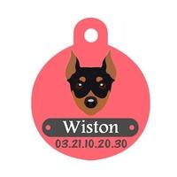 Médaille pour chien Pinscher personnalisée avec nom, numéro de téléphone