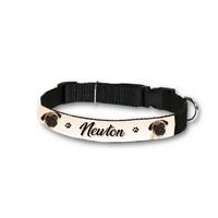 Collier pour chien Carlin personnalisé avec son nom