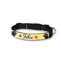 Collier pour chien Labrador noir personnalisé avec son nom