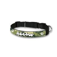 Collier pour chien Camouflage personnalisé avec son nom