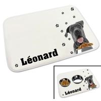 Tapis gamelle chien Cane corso personnalisé avec le nom de votre animal