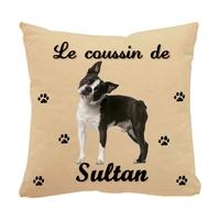 Coussin pour chien Bouledogue français personnalisé avec le nom de votre animal