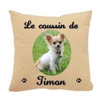 Coussin pour chien Chihuahua personnalisé avec le nom de votre animal