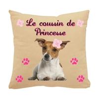 Coussin pour chien Jack russel personnalisé avec le nom de votre animal