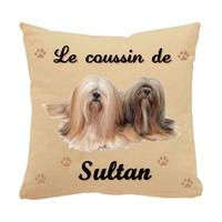 Coussin pour chien Shih tzu personnalisé avec le nom de votre animal