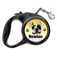 Laisse chien Bouledogue français personnalisée avec le nom de votre animal