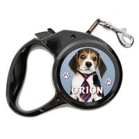 Laisse chien Beagle personnalisée avec le nom de votre animal