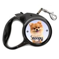 Laisse chien Loulou de Poméranie personnalisée avec le nom de votre animal