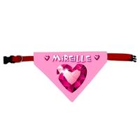 Collier bandana chien Coeur personnalisé avec le nom de votre animal