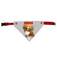 Collier bandana chien Chihuahua personnalisé avec le nom de votre animal