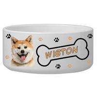 Gamelle pour chien Akita inu personnalisée avec le nom de votre animal