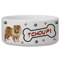 Gamelle pour chien Chowchow personnalisée avec le nom de votre animal