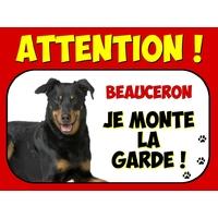 Plaque en aluminium Attention au chien Beauceron