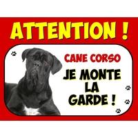 Plaque en aluminium Attention au chien Cané corso