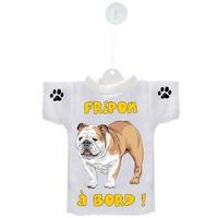 Mini tee shirt voiture Chien à Bord Bulldog personnalisé
