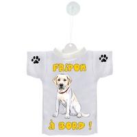 Mini tee shirt voiture Chien à Bord Labrador personnalisé