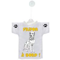 Mini tee shirt voiture Chien à Bord Dalmatien personnalisé