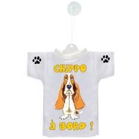 Mini tee shirt voiture Chien à Bord Basset hound personnalisé