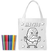 Sac shopping cabas Catch a colorier personnalisé avec prénom