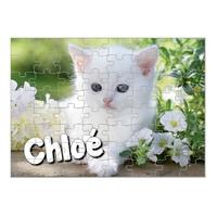 Puzzle Chat Chaton personnalisé avec prénom 35,70 ou 96 pièces