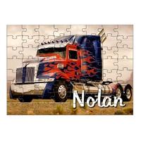 Puzzle Camion personnalisé avec prénom 35,70 ou 96 pièces