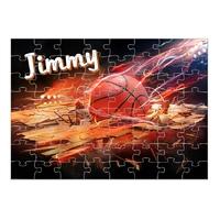 Puzzle Basketball personnalisé avec prénom 35,70 ou 96 pièces