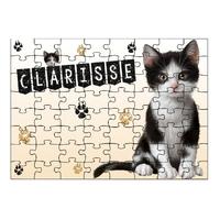 Puzzle Chat chaton cat  personnalisé avec prénom 35,70 ou 96 pièces