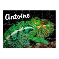 Puzzle Caméléon personnalisé avec prénom 35,70 ou 96 pièces