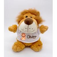 Nounours Lion personnalisé avec le prénom de votre choix