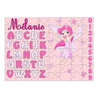 Puzzle Abécédaire Fée personnalisé avec prénom 35,70 ou 96 pièces