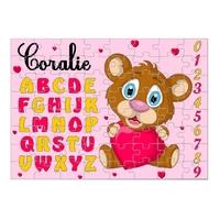 Puzzle Abécédaire Petite souris personnalisé avec prénom 35,70 ou 96 pièces