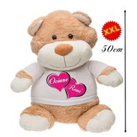 Nounours ourson géant Love personnalisé avec deux prénoms