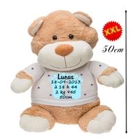 Nounours ourson géant Naissance garçon personnalisé avec prénom,date de naissance,taille....