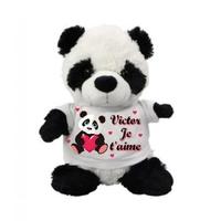 Nounours Panda Je t'aime personnalisé avec prénom