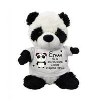 Nounours Panda Naissance personnalisée avec prénom, date, taille poids....