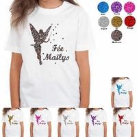 Tee shirt enfant paillettes Fée personnalisé avec prénom
