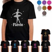 Tee shirt enfant paillettes Danse classique personnalisé avec prénom