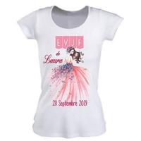 Tee shirt femme EVJF Future mariée personnalisé avec prénom et date