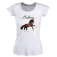 Tee shirt femme Cheval personnalisé avec prénom