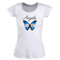 Tee shirt femme Argentine personnalisé avec prénom
