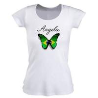 Tee shirt femme Brésil personnalisé avec prénom