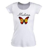 Tee shirt femme Espagne personnalisé avec prénom