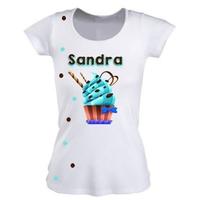 Tee shirt femme Cupcake Passion personnalisé avec prénom