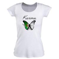 Tee shirt femme Algérie personnalisé avec prénom