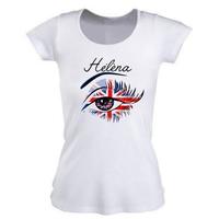 Tee shirt femme Anglais personnalisé avec prénom