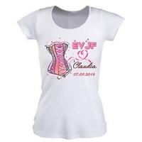 Tee shirt femme EVJF Future mariée personnalisé avec prénom et date au choix