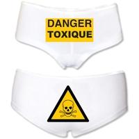 Shorty femme humour Danger toxique !