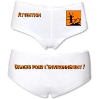 Shorty femme humour Pollution Danger pour l'environnement !
